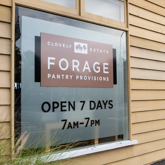 Forage Pantry Provisions window sign