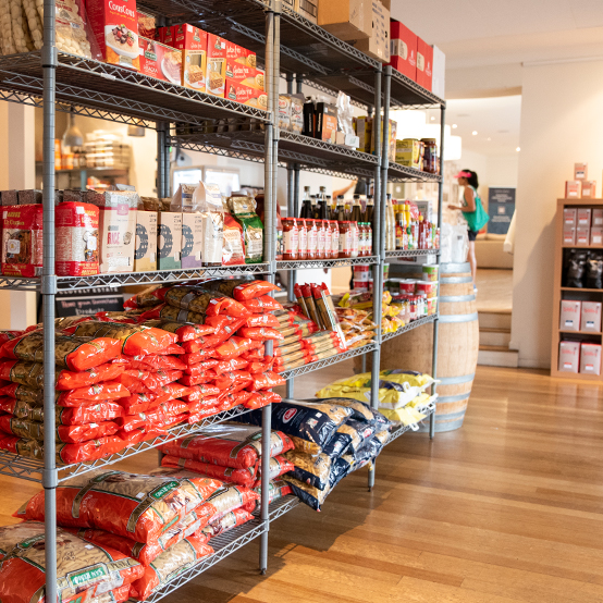 Forage Pantry Provisions in-store shelving