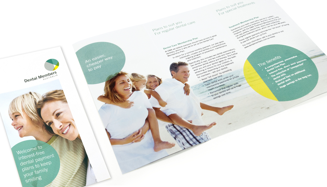 Dental members Australia brochure and leaflet