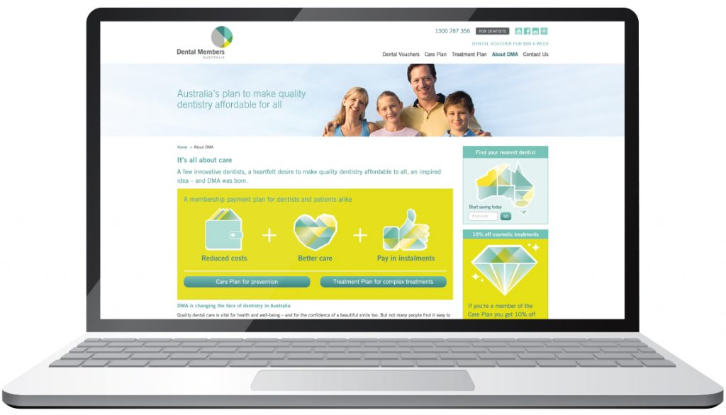 Dental Members Australia website