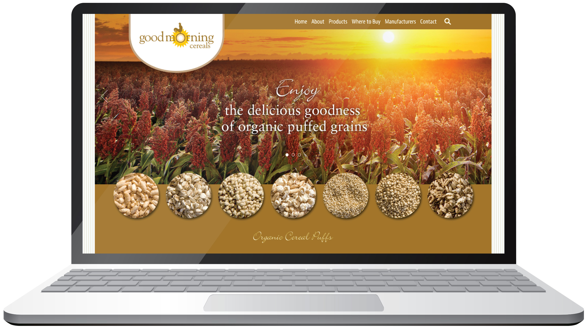 Good Morning Cereals website
