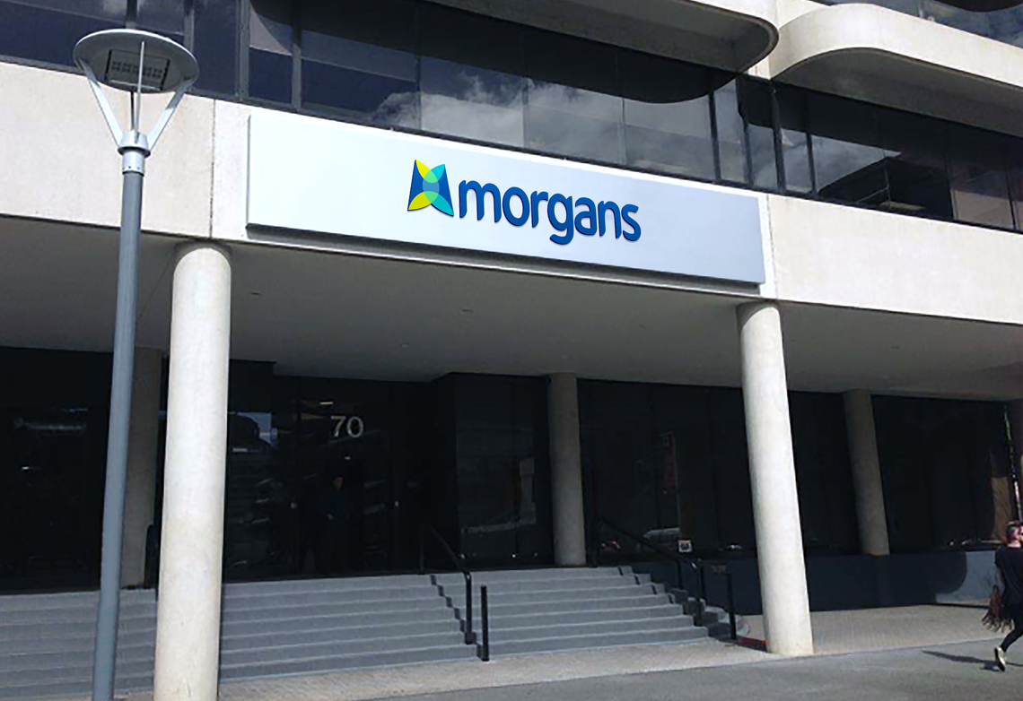 Morgans high level sign