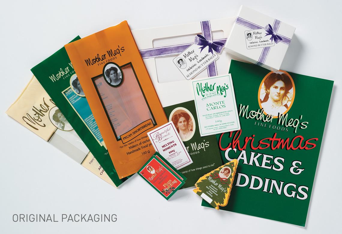 Mother Meg's original packaging