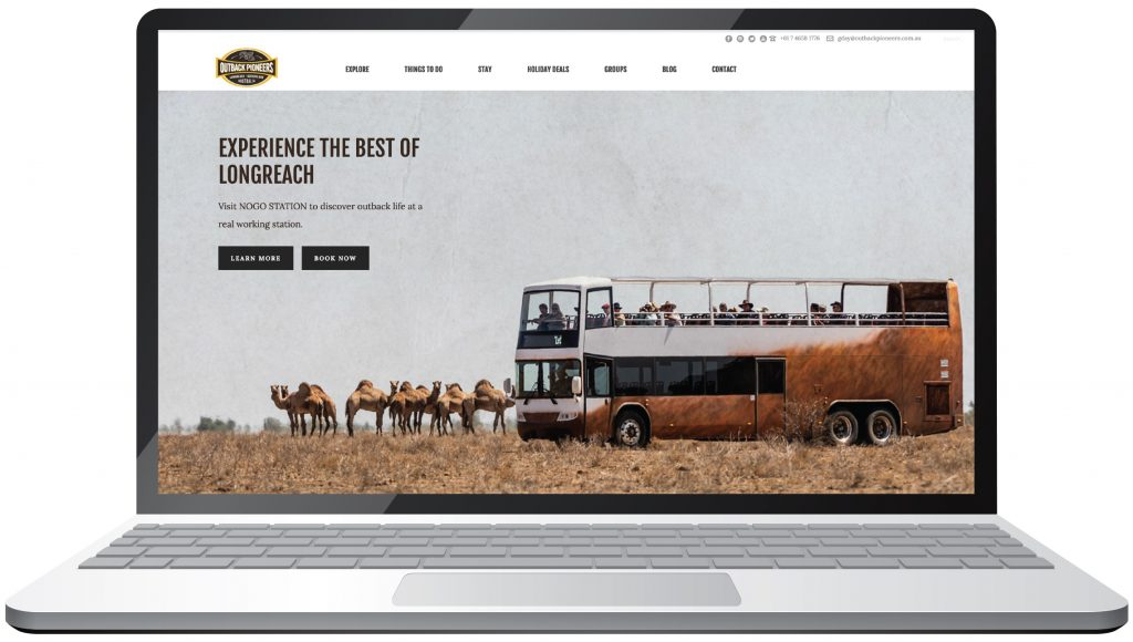 Outback Pioneers website home page