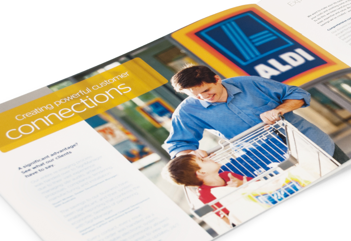 SignManager creating customer connections brochure page