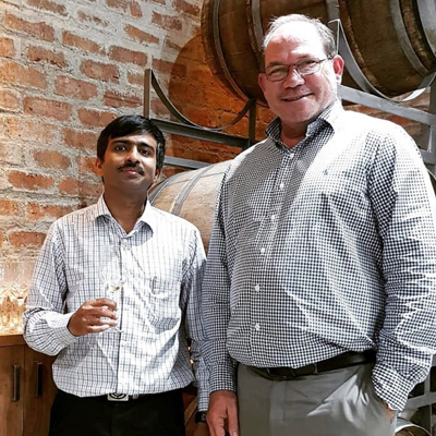 Winemaker Nick Pesudovs in India