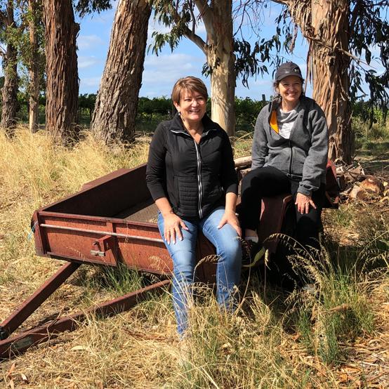 Corinne and Nicki in Blewitt Springs