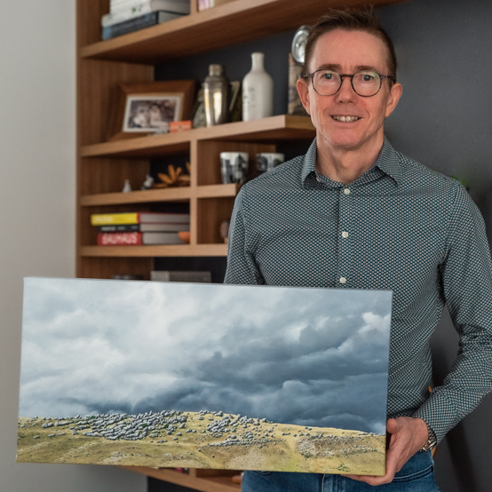 Landscape oil painting by Tim Grey